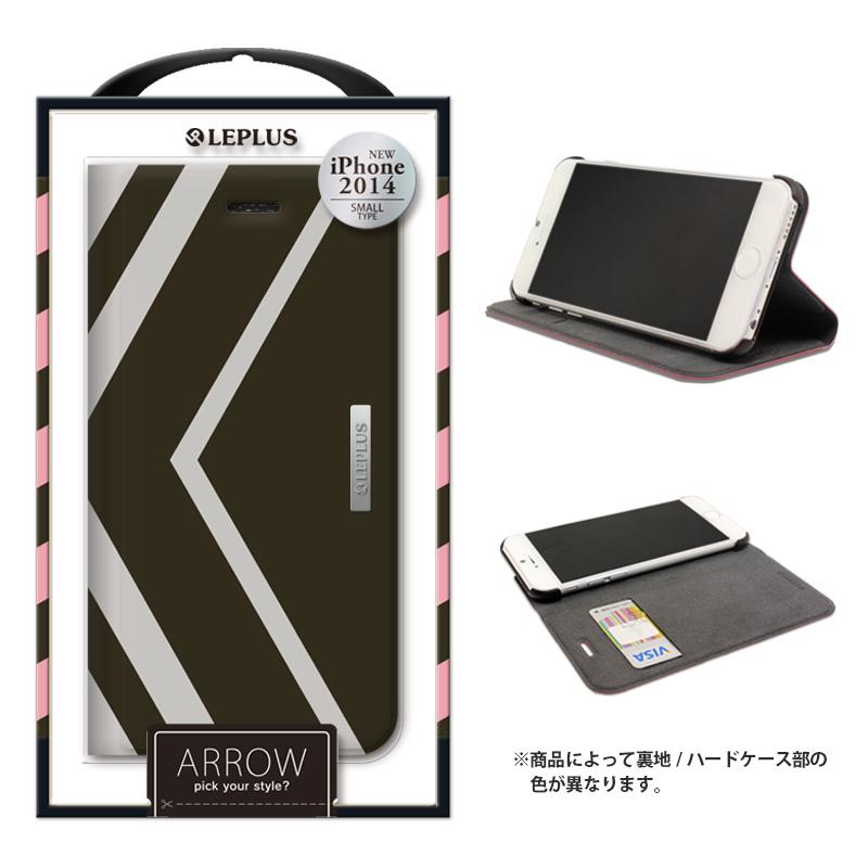 iPhone 6_6S [ARROW] デザインPUレザーカバー グレー