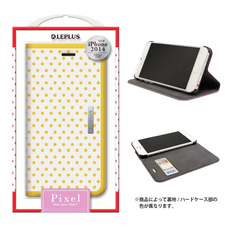 iPhone 6_6S [PIXEL] デザインPUレザーカバー イエロー