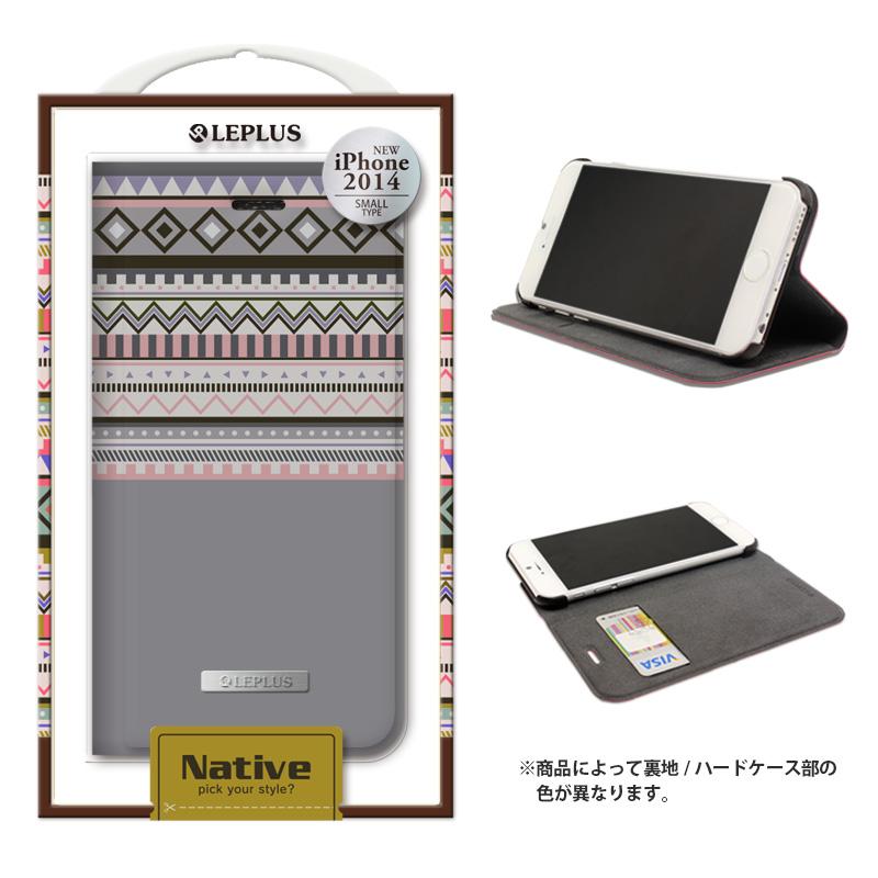iPhone 6_6S [NATIVE] デザインPUレザーカバー グレー