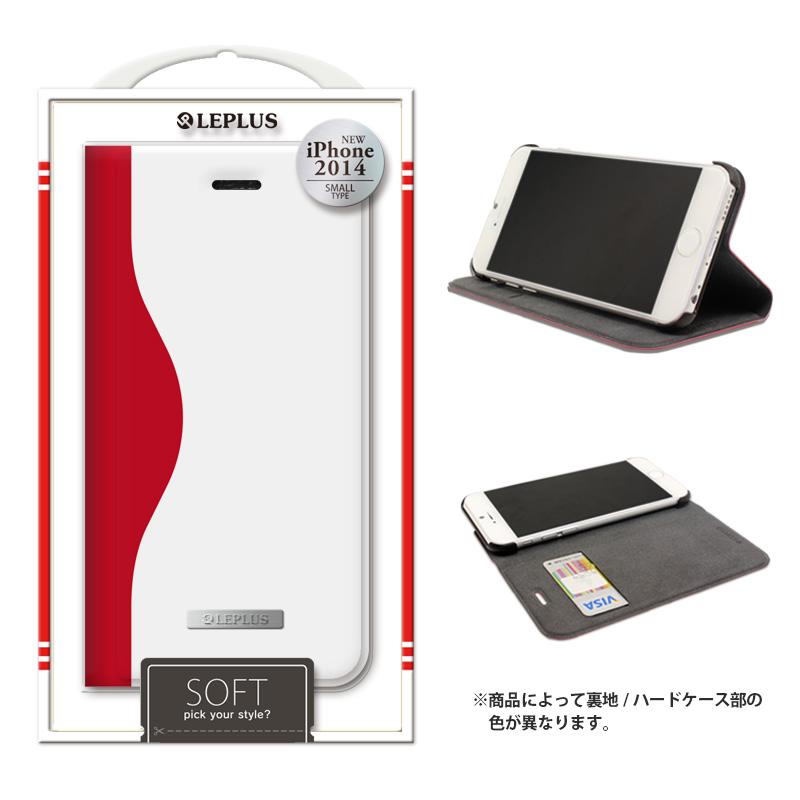 iPhone 6_6S [SOFT] デザインPUレザーカバー レッド
