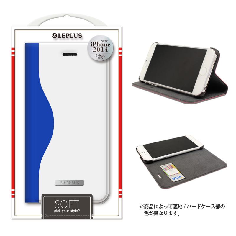 iPhone 6_6S [SOFT] デザインPUレザーカバー ブルー