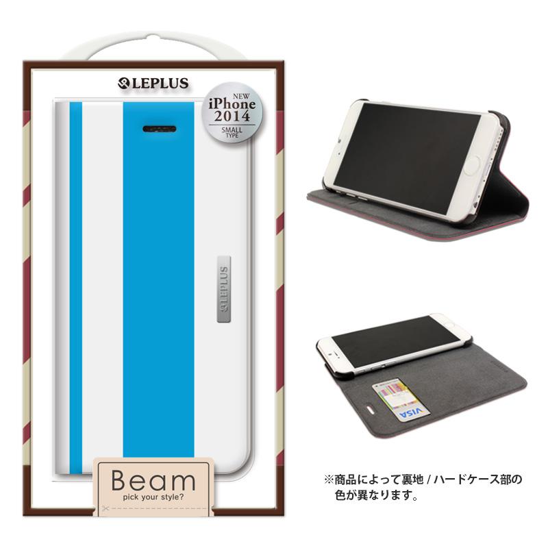iPhone 6_6S [BEAM] デザインPUレザーカバー ブルー
