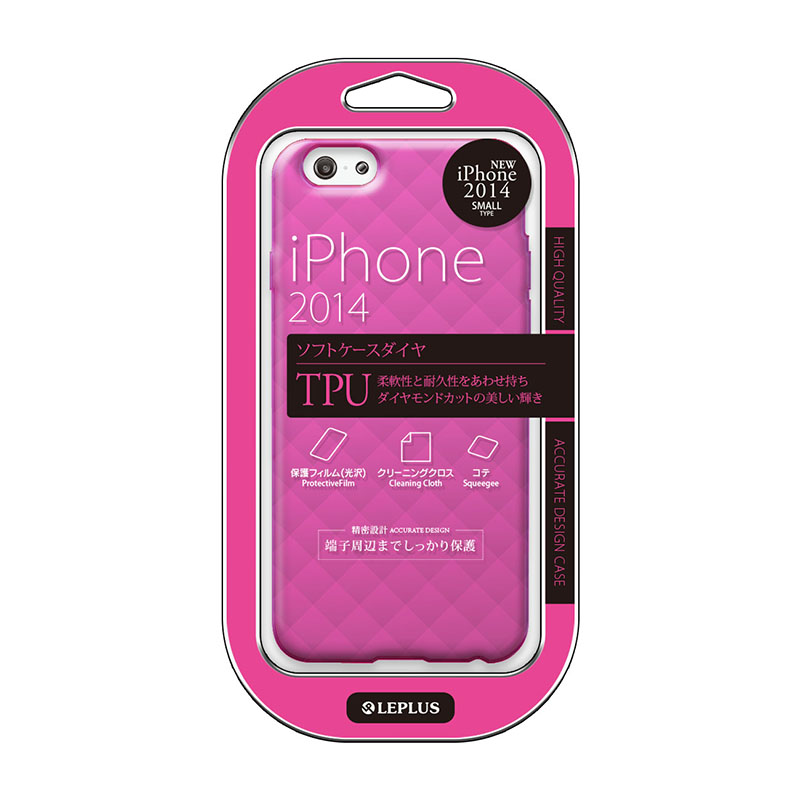 iPhone 6_6S [TPU DIA] TPUケース ビビッドピンク