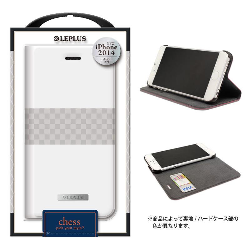 iPhone 6 Plus [CHESS] デザインPUレザーカバー ホワイト