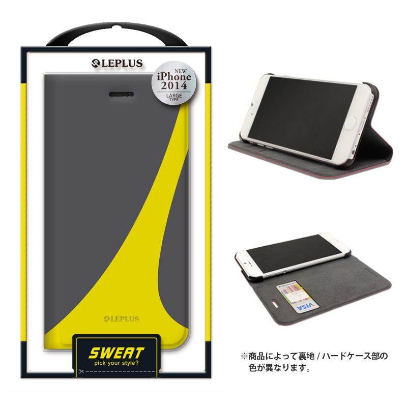 iPhone 6 Plus [SWEAT] デザインPUレザーカバー グリーン