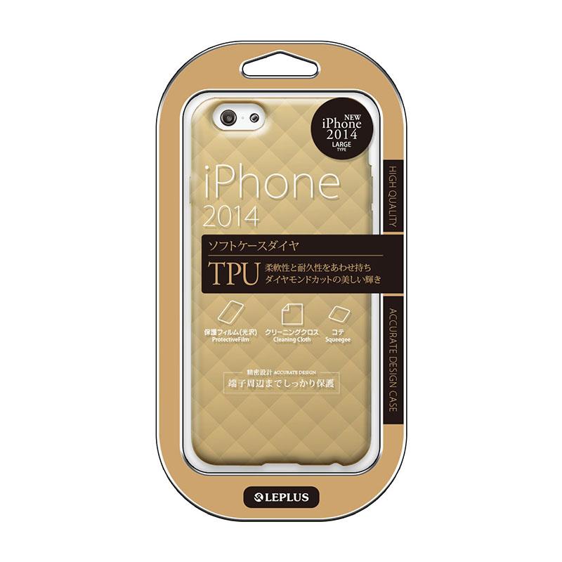 iPhone 6 Plus [TPU DIA] TPUケース シャンパンブラウン