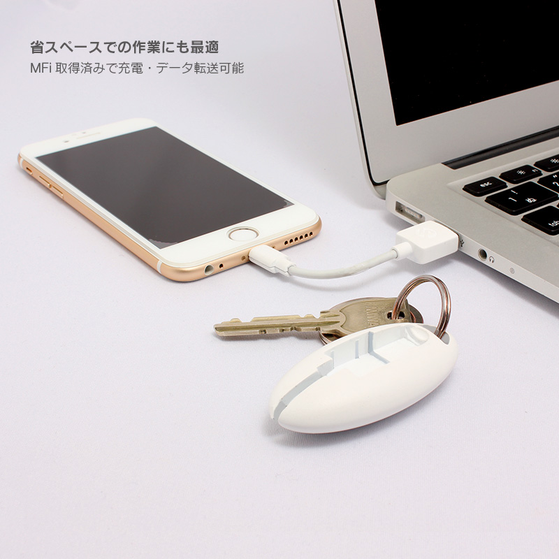 Compact USB Lightning Cable 「ケーブルを持ち歩く、新しいカタチ。」