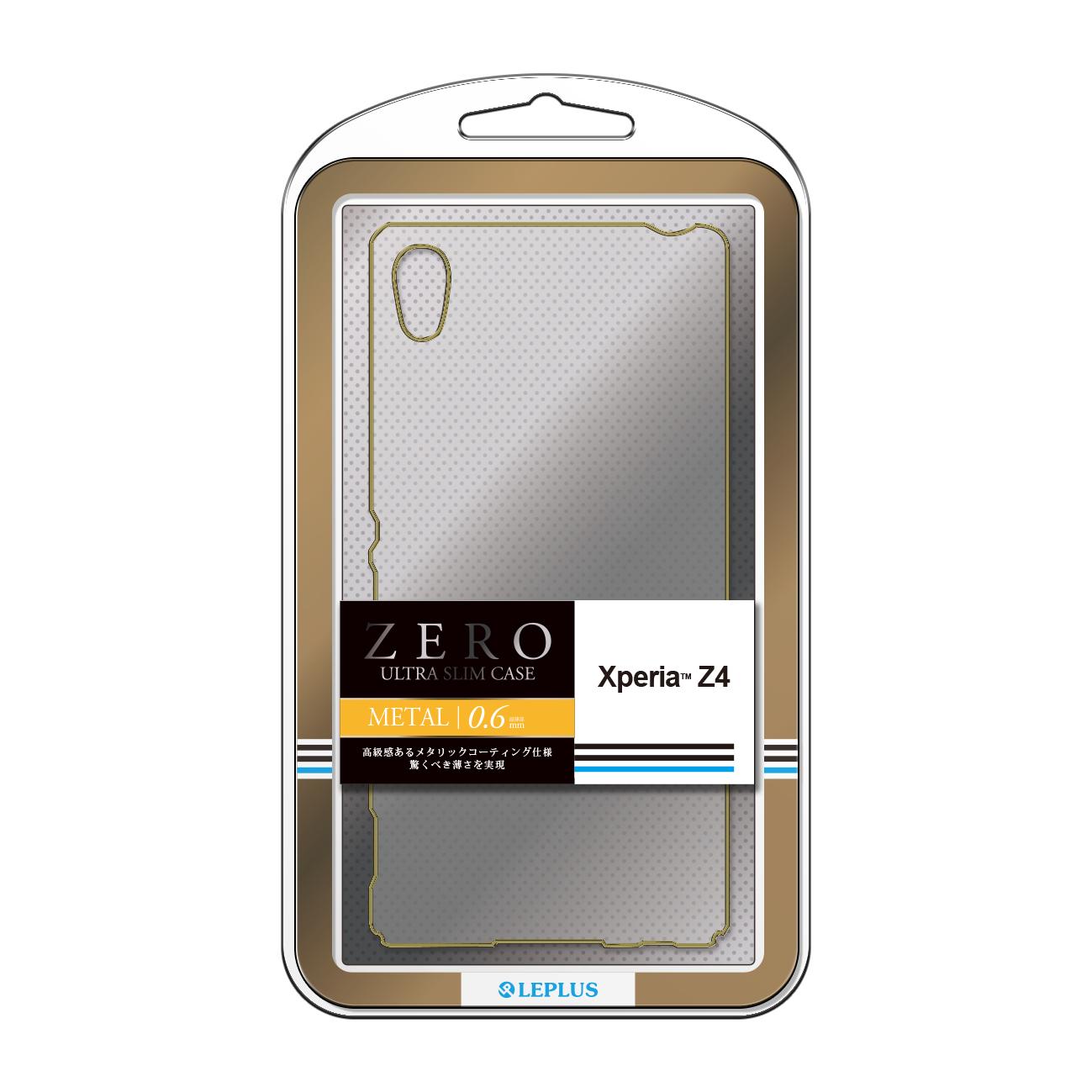 Xperia(TM) Z4 SO-03G/SOV31/402SO 超極薄ハードケース「ZERO METAL」 クリア&ゴールド
