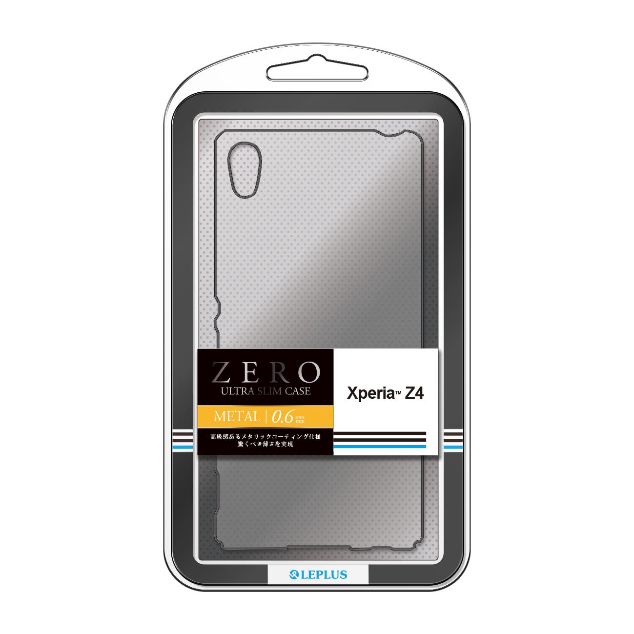 Xperia(TM) Z4 SO-03G/SOV31/402SO 超極薄ハードケース「ZERO METAL」 クリア&チタン