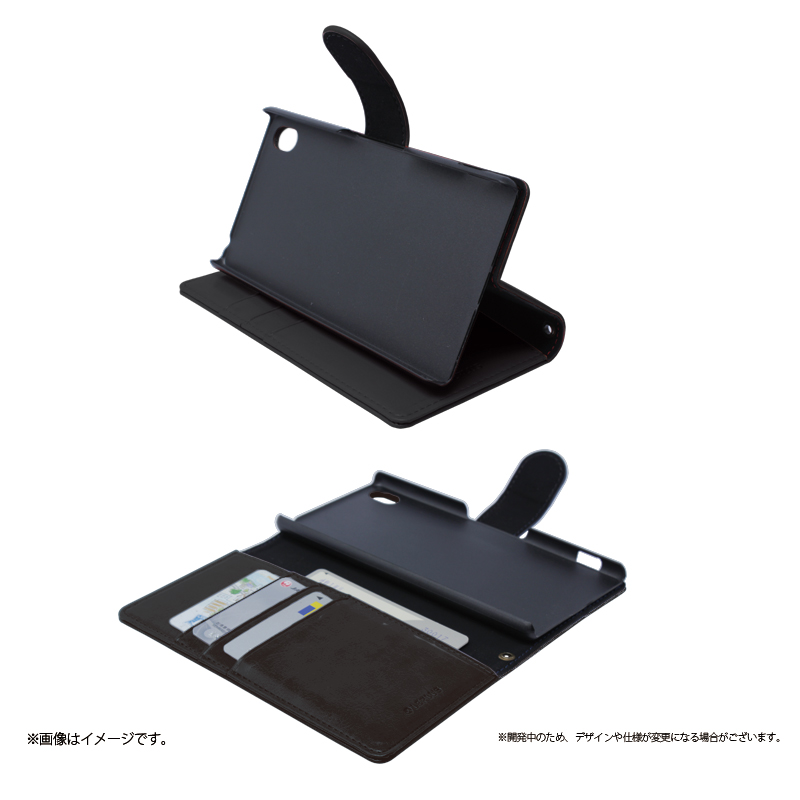 Xperia(TM) Z4 SO-03G/SOV31/402SO ブックタイプPUレザーケース「BOOK A(エース)」 ブラック