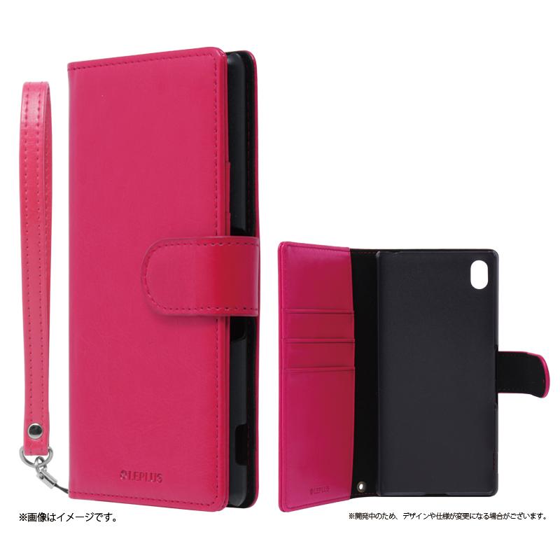 Xperia(TM) Z4 SO-03G/SOV31/402SO ブックタイプPUレザーケース「BOOK A(エース)」 ピンク