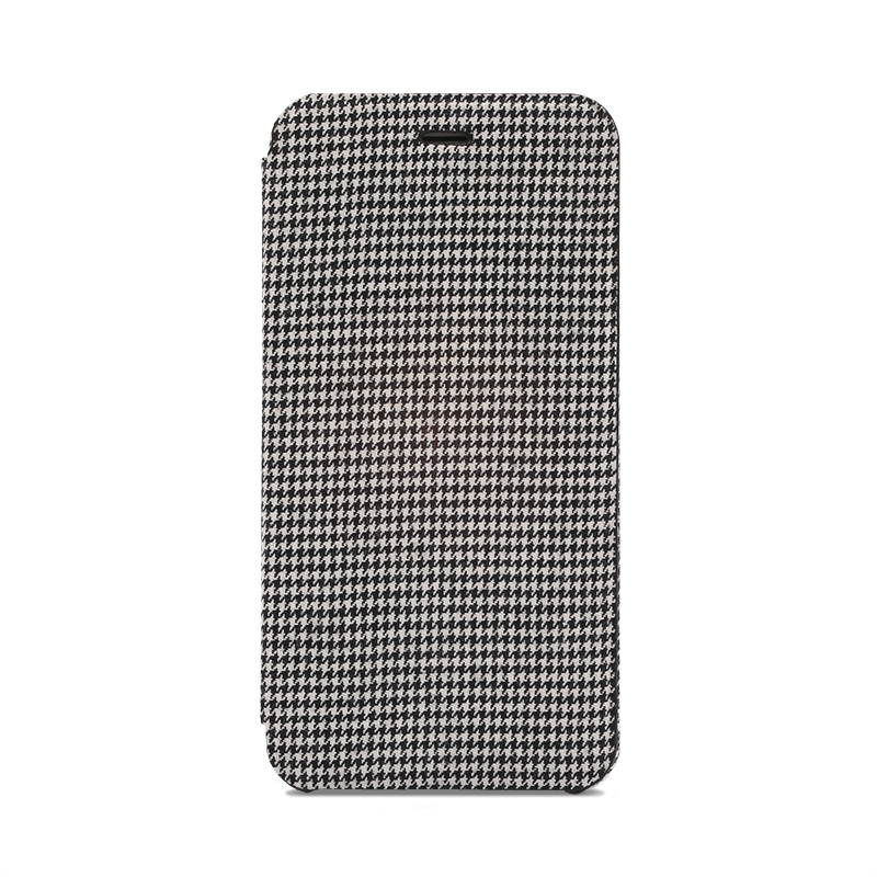 iPhone 6 Plus/6s Plus 極薄レザーケース「SLIM Fabric」 千鳥柄