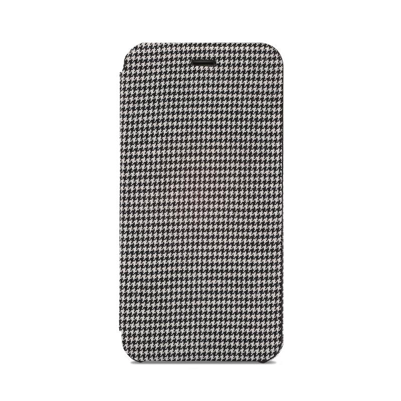 iPhone 6 Plus/6s Plus 極薄レザーケース「SLIM Fabric」 千鳥柄