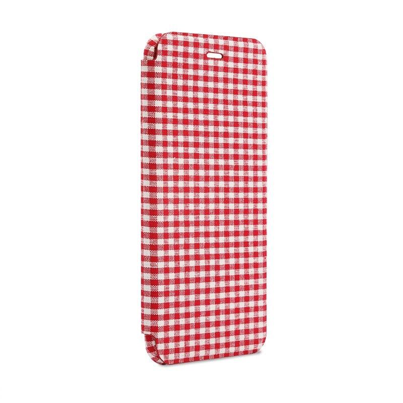 iPhone 6 Plus/6s Plus 極薄レザーケース「SLIM Fabric」 チェック柄