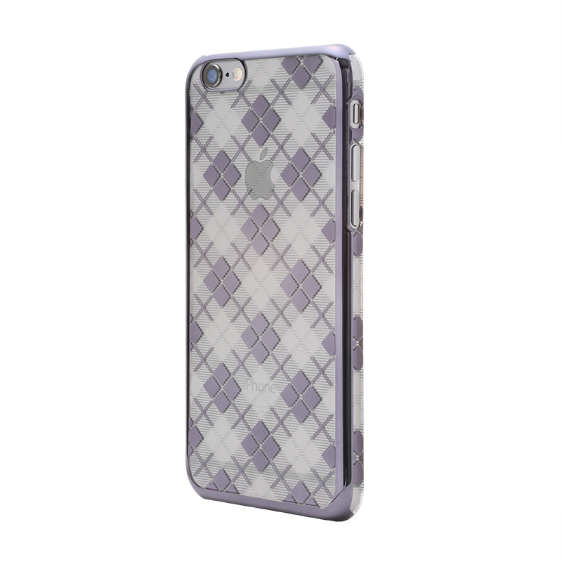 iPhone 6 Plus/6s Plus メタルデザインハードケース「Metal Design」 タータンチェック柄