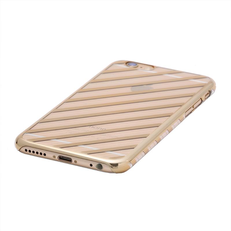 iPhone 6 Plus/6s Plus メタルデザインハードケース「Metal Design」 ストライプ柄