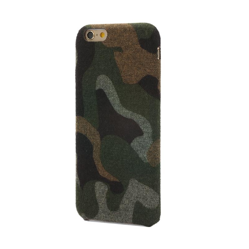 iPhone 6 Plus/6s Plus ファブリックシェルケース「SLIM SHELL Fabric」 カモフラ柄