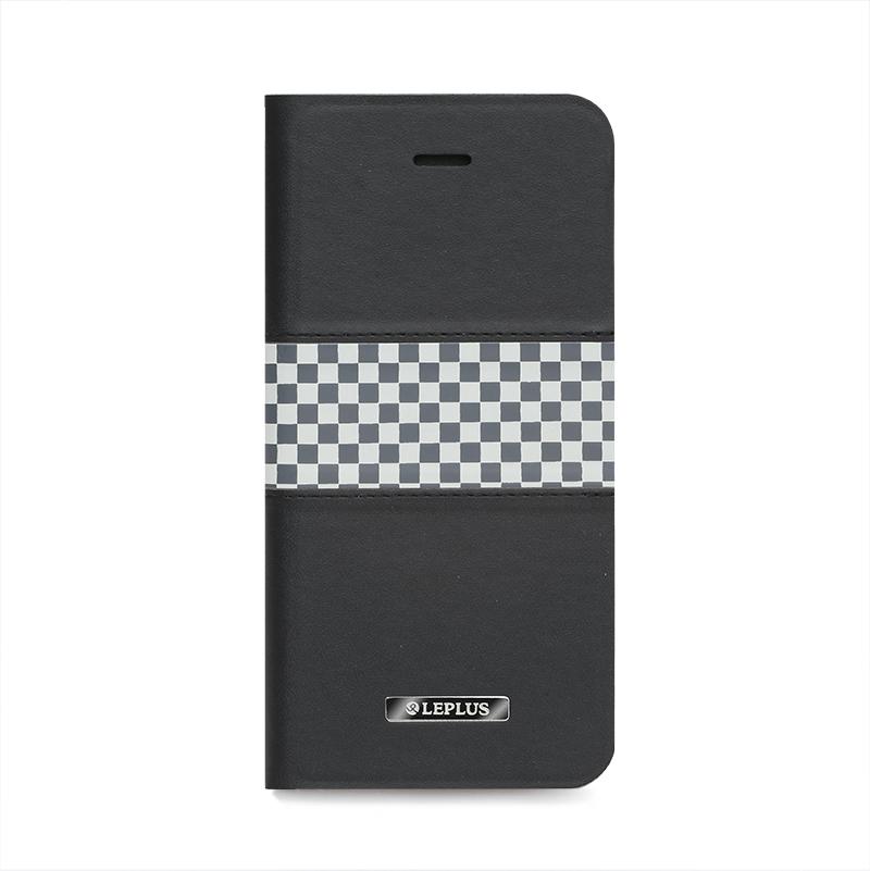 □iPhone 6 Plus/6s Plus [CHESS] デザインPUレザーカバー ブラック