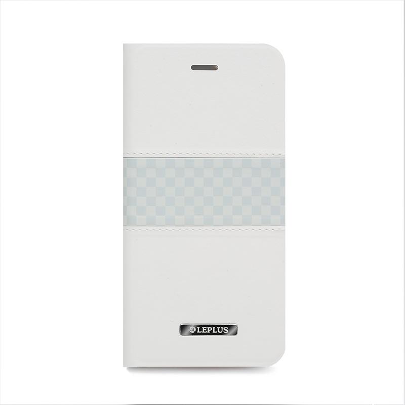 □iPhone 6 Plus/6s Plus [CHESS] デザインPUレザーカバー ホワイト