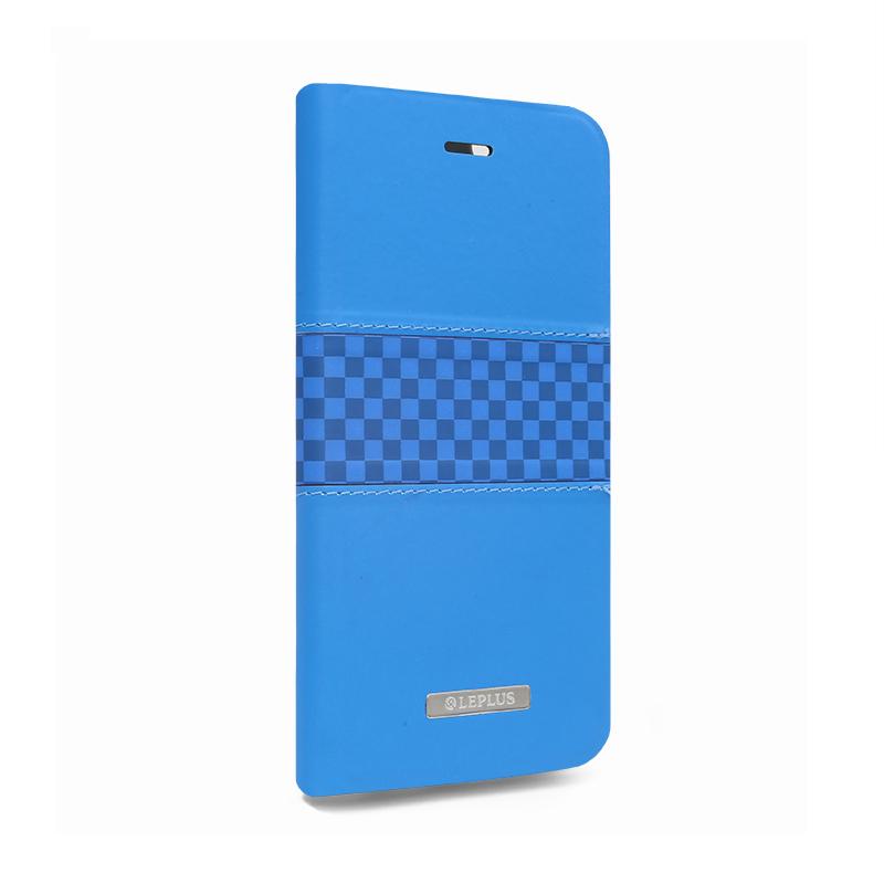 □iPhone 6 Plus/6s Plus [CHESS] デザインPUレザーカバー ブルー