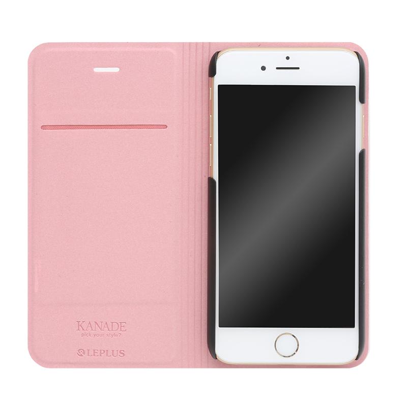□iPhone 6 Plus/6s Plus [KANADE] デザインPUレザーカバー レッド