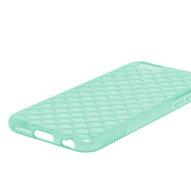 □iPhone 6 Plus/6s Plus [TPU DIA] TPUケース(ダイヤ) エメラルドグリーン