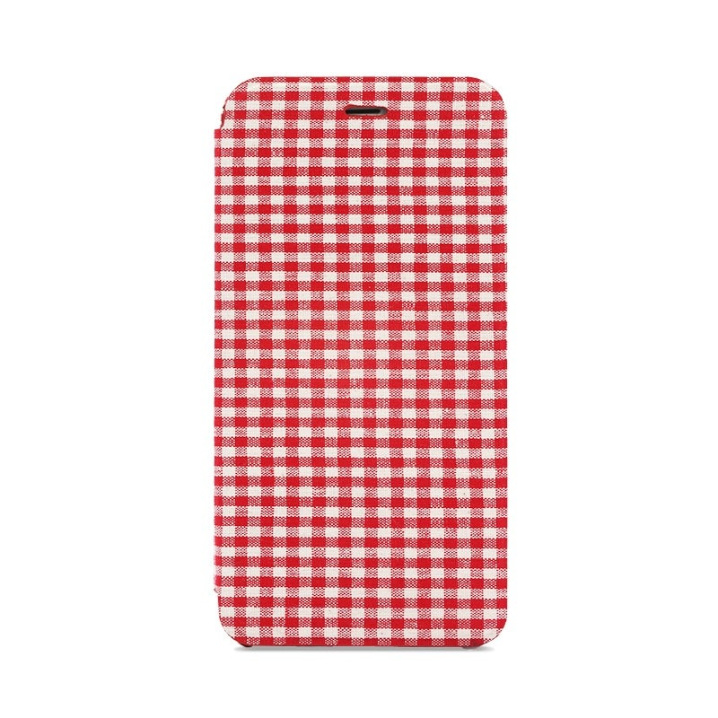 iPhone 6/6s 極薄レザーケース「SLIM Fabric」 チェック柄