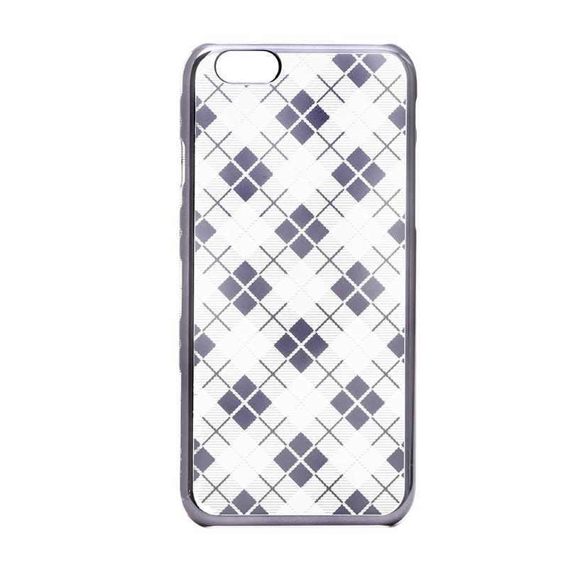 iPhone 6/6s メタルデザインハードケース「Metal Design」 タータンチェック柄