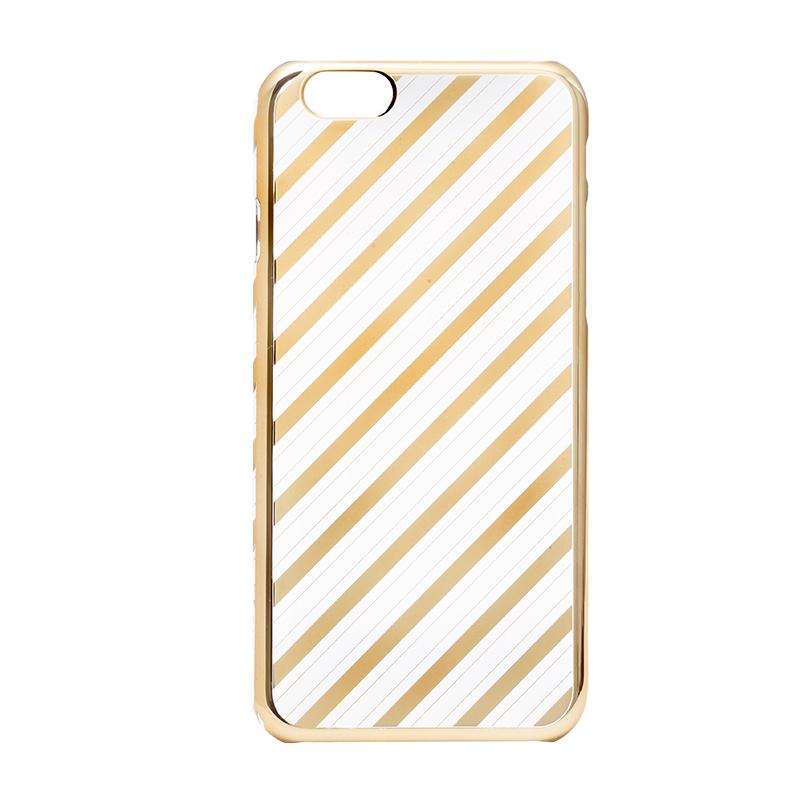 iPhone 6/6s メタルデザインハードケース「Metal Design」 ストライプ柄
