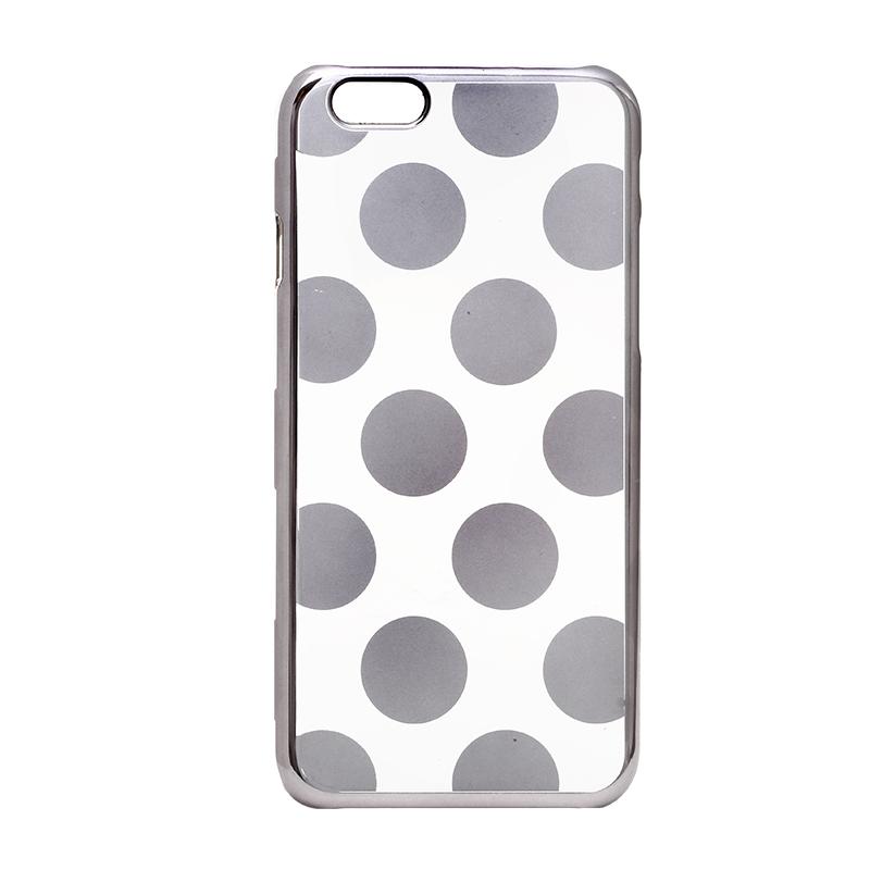 iPhone 6/6s メタルデザインハードケース「Metal Design」 ドット柄