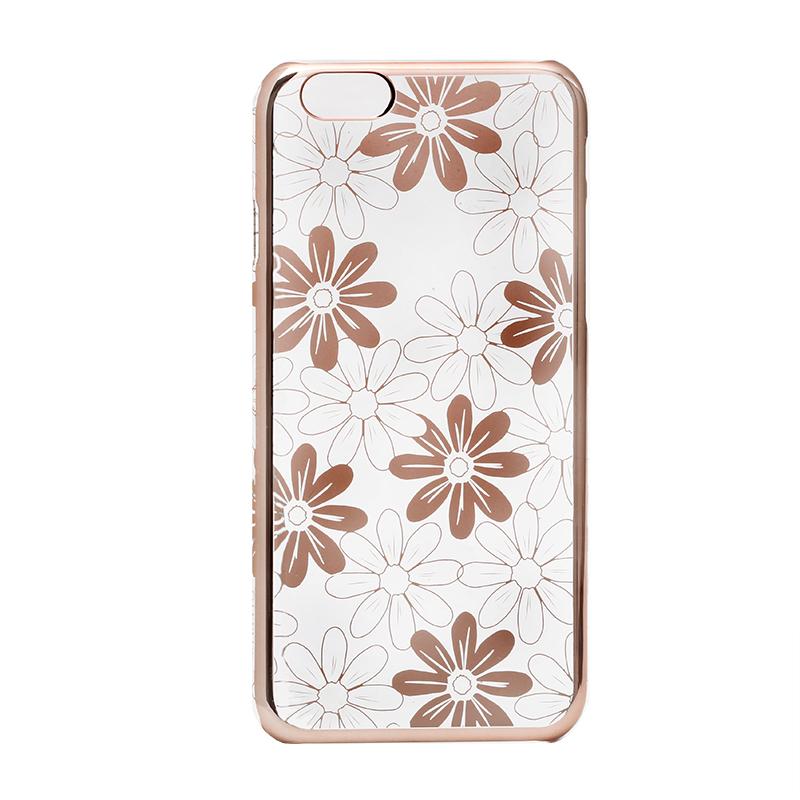 iPhone 6/6s メタルデザインハードケース「Metal Design」 フラワー柄