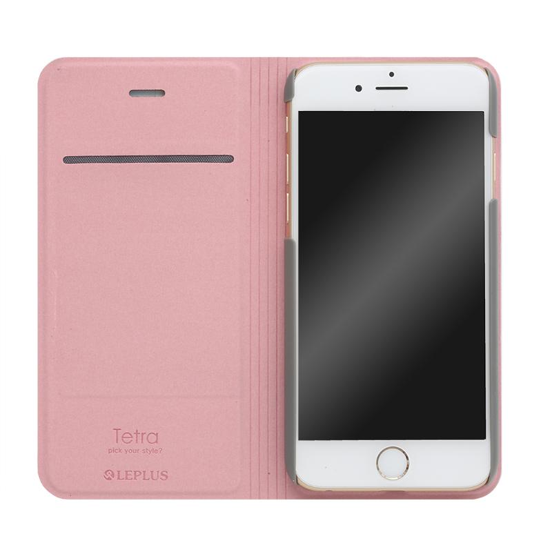 □iPhone 6/6s [TETRA] デザインPUレザーカバー B