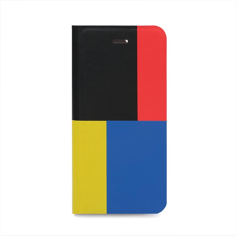 □iPhone 6/6s [TETRA] デザインPUレザーカバー C