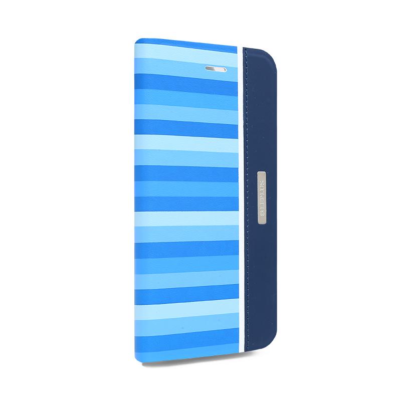 □iPhone 6/6s [KANADE] デザインPUレザーカバー ブルー