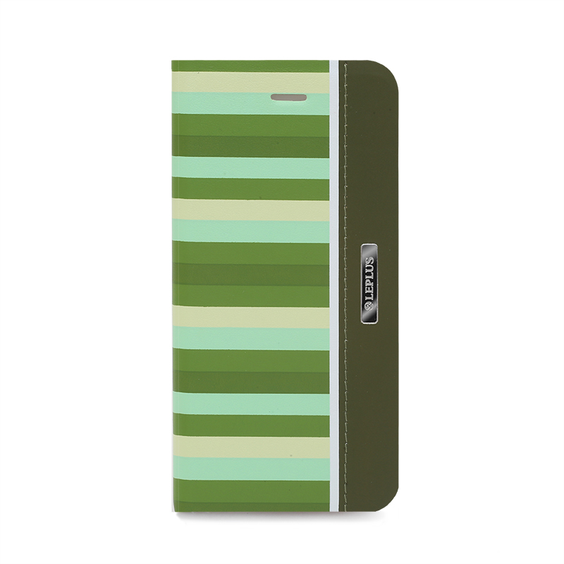 □iPhone 6/6s [KANADE] デザインPUレザーカバー グリーン