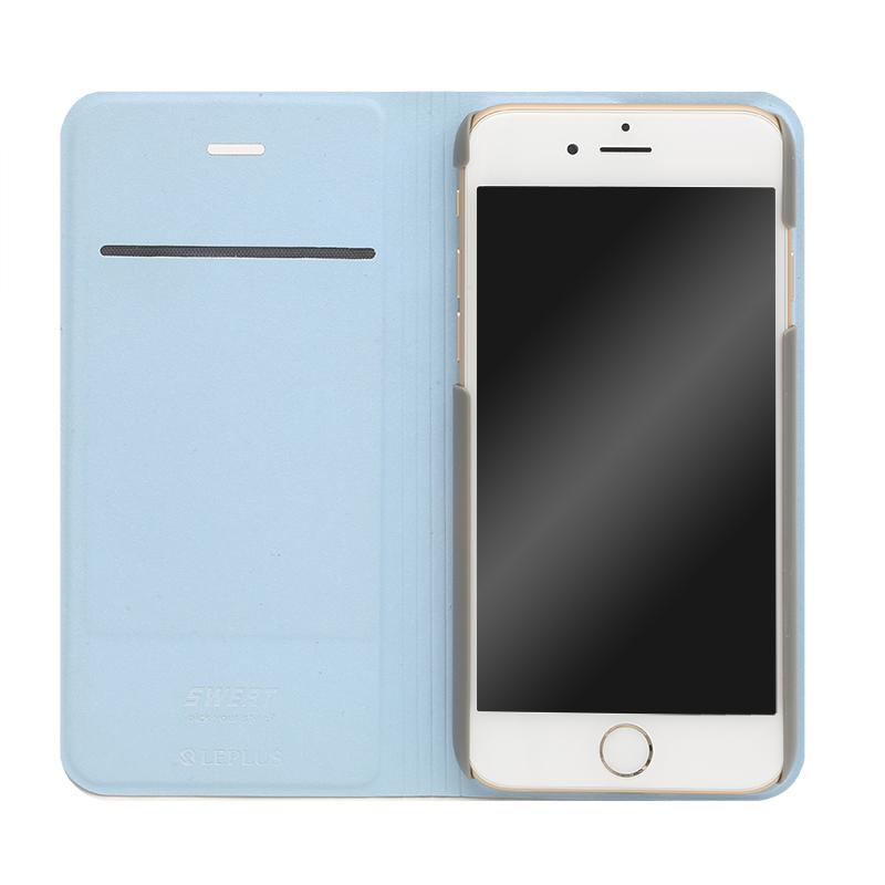 □iPhone 6/6s [SWEAT] デザインPUレザーカバー ブルー
