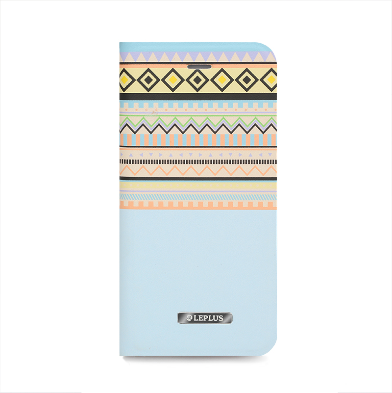 □iPhone 6/6s [NATIVE] デザインPUレザーカバー ブルー
