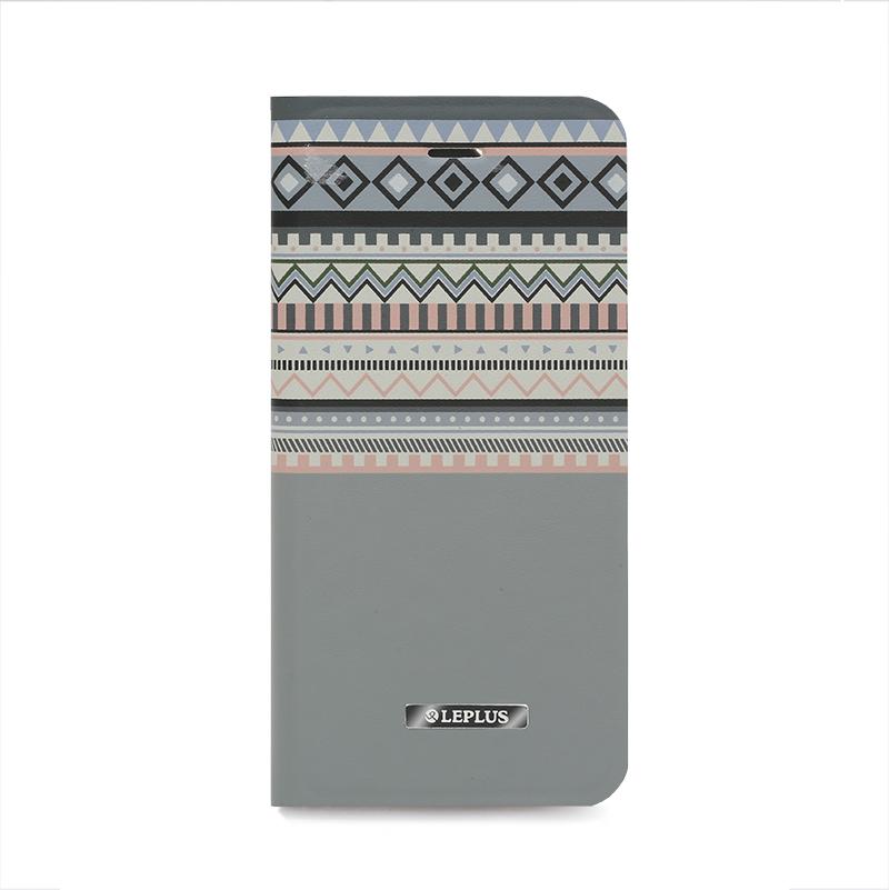 □iPhone 6/6s [NATIVE] デザインPUレザーカバー グレー