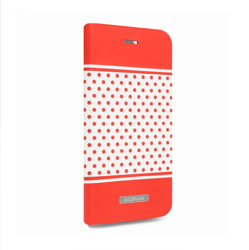 □iPhone 6/6s [DOT] デザインPUレザーカバー レッド