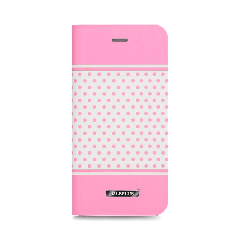 □iPhone 6/6s [DOT] デザインPUレザーカバー ピンク
