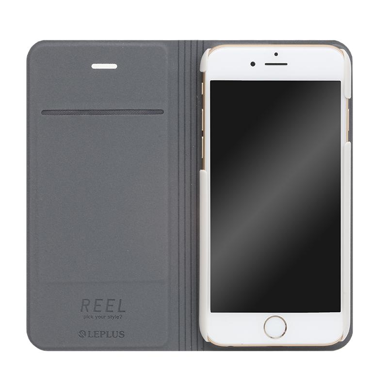□iPhone 6/6s [REEL] デザインPUレザーカバー ピンク