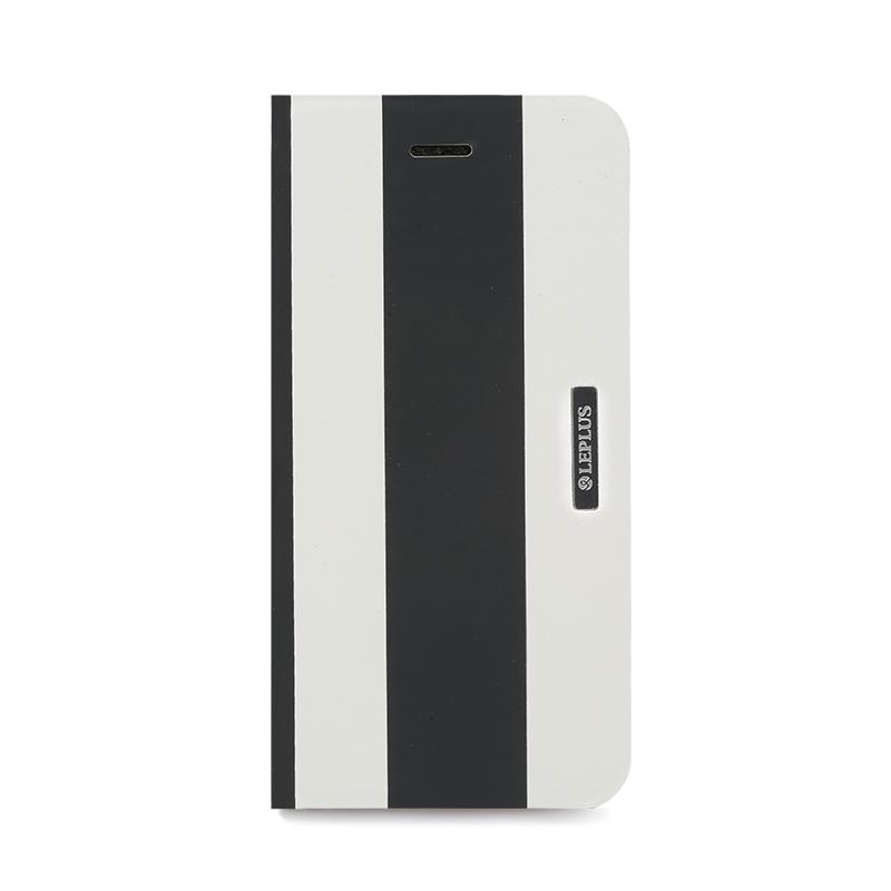 □iPhone 6/6s [BEAM] デザインPUレザーカバー ブラック