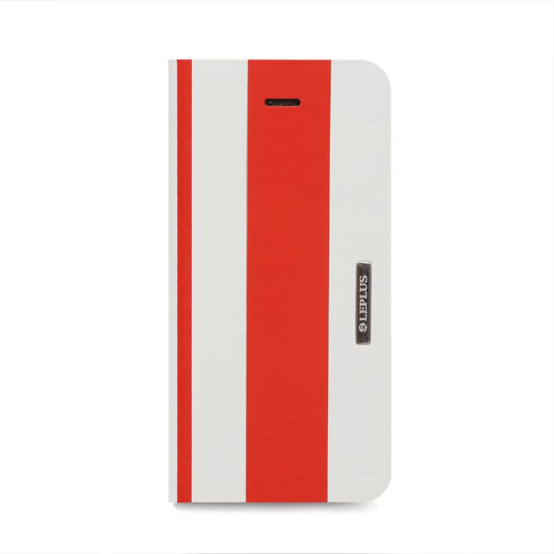 □iPhone 6/6s [BEAM] デザインPUレザーカバー レッド