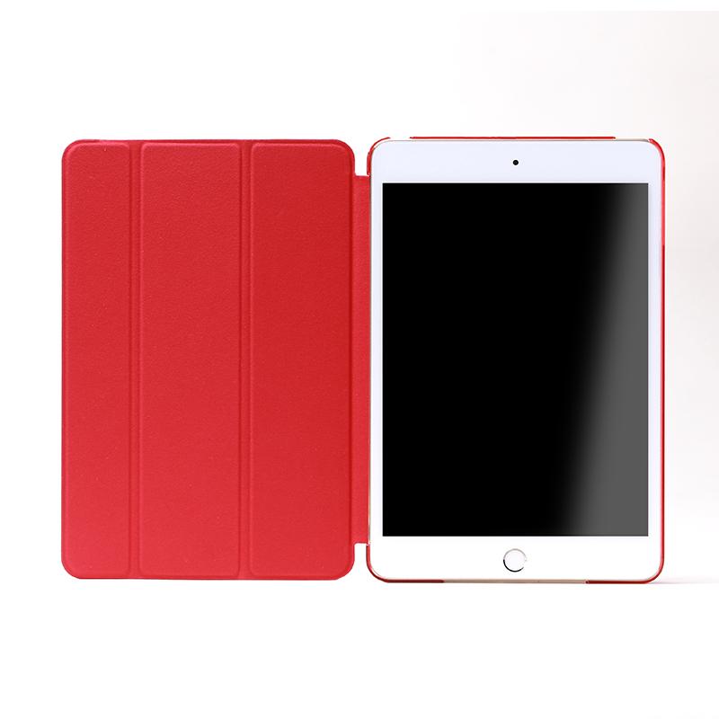 iPad mini 4 フラップケース 「Clear Note」 レッド