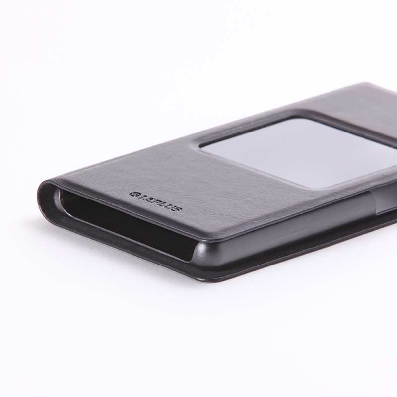 AQUOS Compact SH-02H/Disney mobile on docomo DM-01H/AQUOS Xx2 mini 窓付きPUレザーケース「PRIME Window」 ブラック