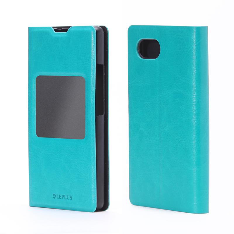 AQUOS Compact SH-02H/Disney mobile on docomo DM-01H/AQUOS Xx2 mini 窓付きPUレザーケース「PRIME Window」 ブルー