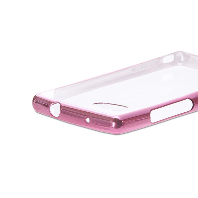 AQUOS Compact SH-02H/Disney mobile on docomo DM-01H/AQUOS Xx2 mini 超極薄TPUメタルケース「ZERO SOFT METAL」 ピンク