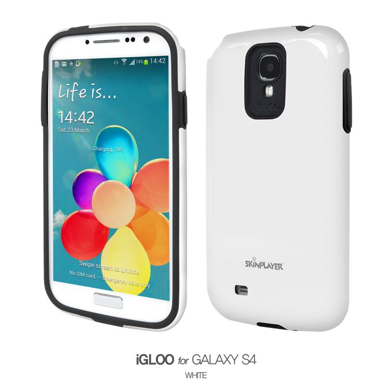 iGLOO For Galaxy S4 ホワイト/ブラック