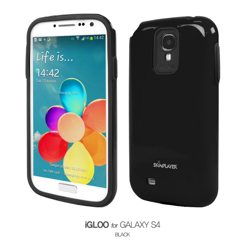 iGLOO For Galaxy S4 ブラック/ブラック