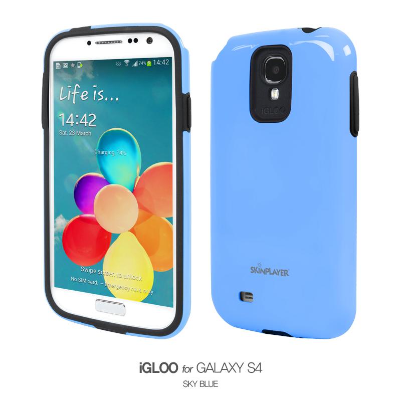 iGLOO For Galaxy S4 スカイブルー/ブラック